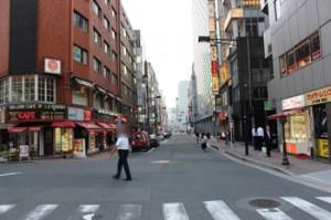 東銀座駅喫茶店交差点